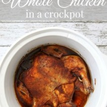 Crockpot Roast Chicken Dinner