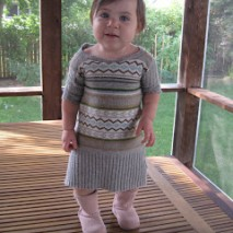 Sweater to Toddler Dress Repurpose Tutorial
