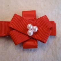 Gift Bow Hair Clip Tutorial