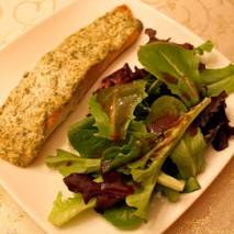 Dinner Tonight: Roasted Salmon with Herbed Yogurt