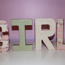 Fabric Block Letter Tutorial