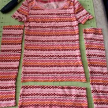Repurpose: Little Girl's Shirt Sleeves to Legwarmers