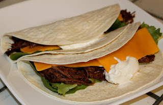 Quick and Easy Crockpot Shredded Beef Tacos