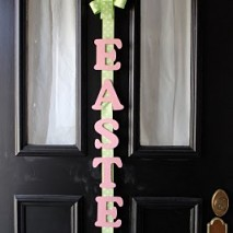 Lettered Ribbon Door Hanging Tutorial