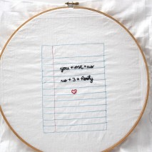 Embroidered Love Notes