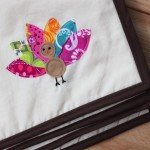 Appliquéd Turkey Placemats with the Go! Baby Fabric Cutter {Tutorial}