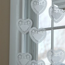 Heart Doily Valentine's Window-TUTORIAL