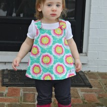 Crossover Pinafore into Sweet Little Top