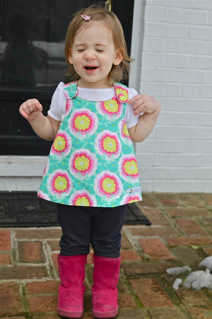 Crossover Pinafore Into Sweet Little Top Smashed Peas