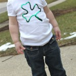 No Sew Sequin Shamrock Shirt-TUTORIAL