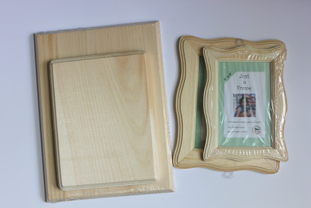 Easy layered wooden frames tutorial smashed peas carrots for Unfinished wood frames for crafts