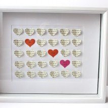 3-D Heart Shadow Box Wedding Gift-TUTORIAL