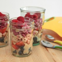 Plum Organics Yogurt and Puff Parfait-RECIPE plus Giveaway!