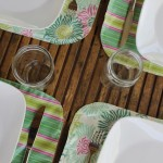 Color Your Summer: Pink Laminated Cotton Placemats-TUTORIAL
