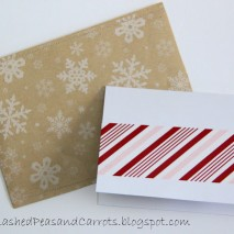 DIY Christmas Cards and Kraft Paper Envelopes-TUTORIAL