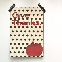 Give Thanks Wall Art Tutorial and Cricut Mini Review