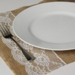 Burlap & Lace Placemats-TUTORIAL