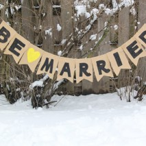 TUTORIAL: Be Married Burlap Wedding Banner