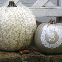 TUTORIAL: Gold Accented Decoupaged Pumpkins