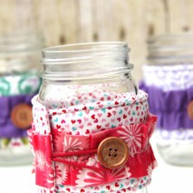 TUTORIAL: Ruffled Mason Jar Cozies