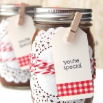 Homemade Applesauce with Mason Jar Gift Packaging