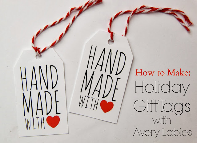 Tutorial How To Make Holiday Gift Tags With Avery Labels With Free