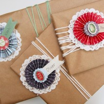 TUTORIAL: Paper Rosette Gift Name Tags