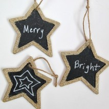 Glittered Chalkboard Ornament Tag Tutorial