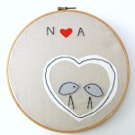 Love Birds Embroidery Hoop