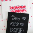 Valentine Chalkboard Love Letters Made with Foam Board