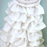 Ruffled Embroidery Hoop Laundry Bag
