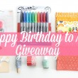 Happy Birthday to Me giveaway!!
