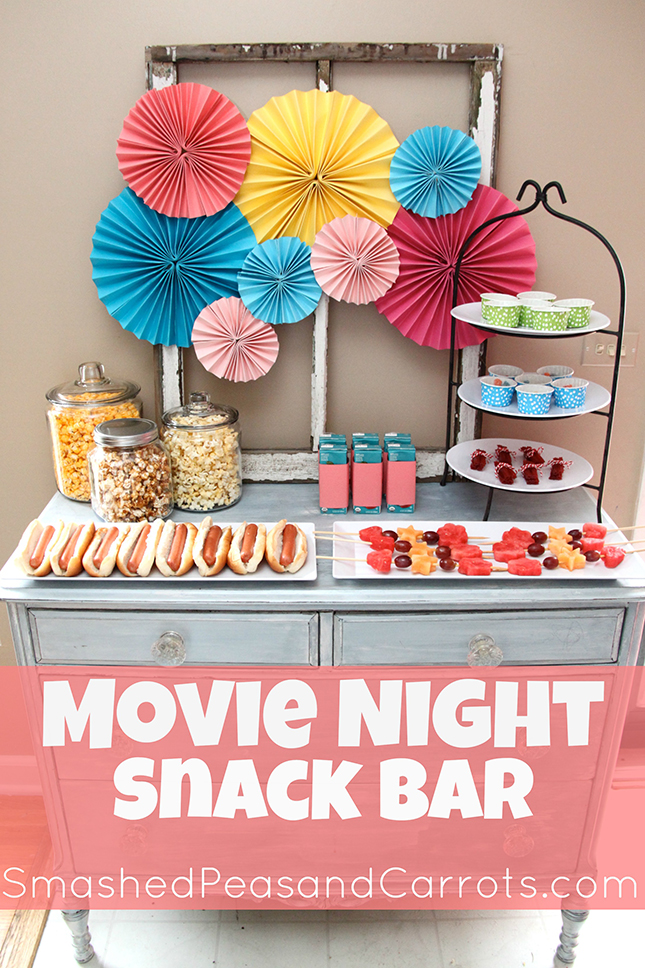 family movie night snack bar with dixie ultra moments tableware