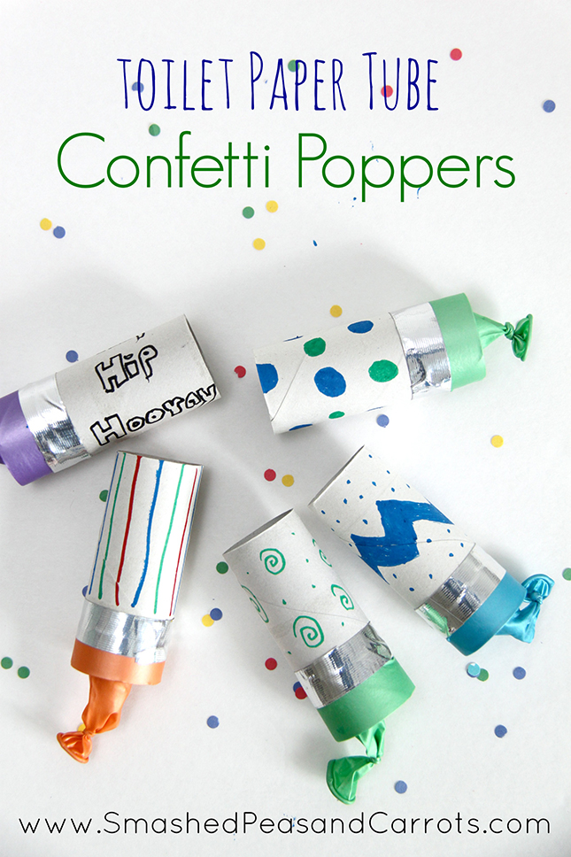 how to make homemade confetti poppers