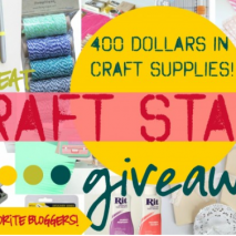 Craft Supplies Galore Giveaway!!!