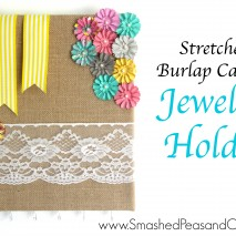 Stretched Burlap Canvas Jewelry Holder