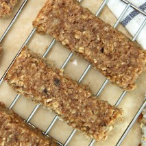 Gluten Free Soft & Chewy Almond Butter Granola Bar Recipe