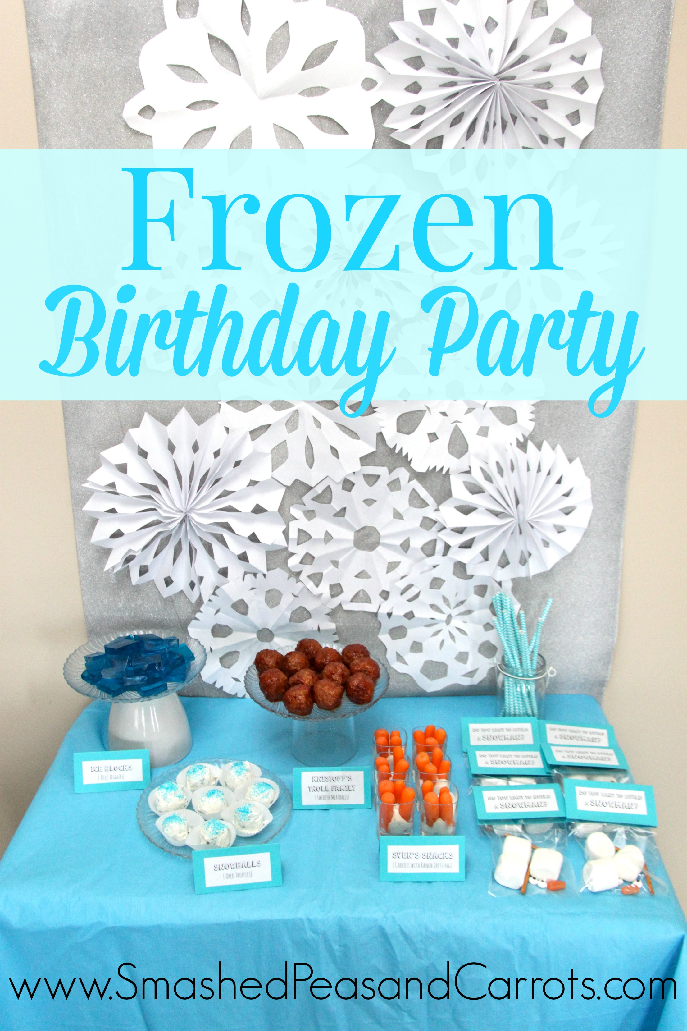 Eloise's Frozen Birthday Party with FREE Printables - Smashed Peas & Carrots