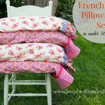 French Seam Pillowcase Set in Under 30 Minutes-Tutorial