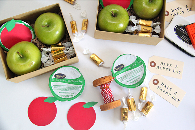 Diy caramel apple in a box gift idea smashed peas carrots for Diy apple boxes
