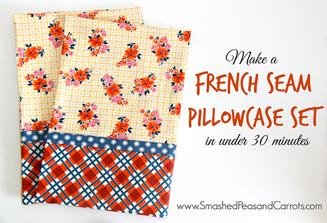Diy Pillowcases With French Seams: French Seam Pillowcase Set in Under 30 Minutes Tutorial   Smashed    ,