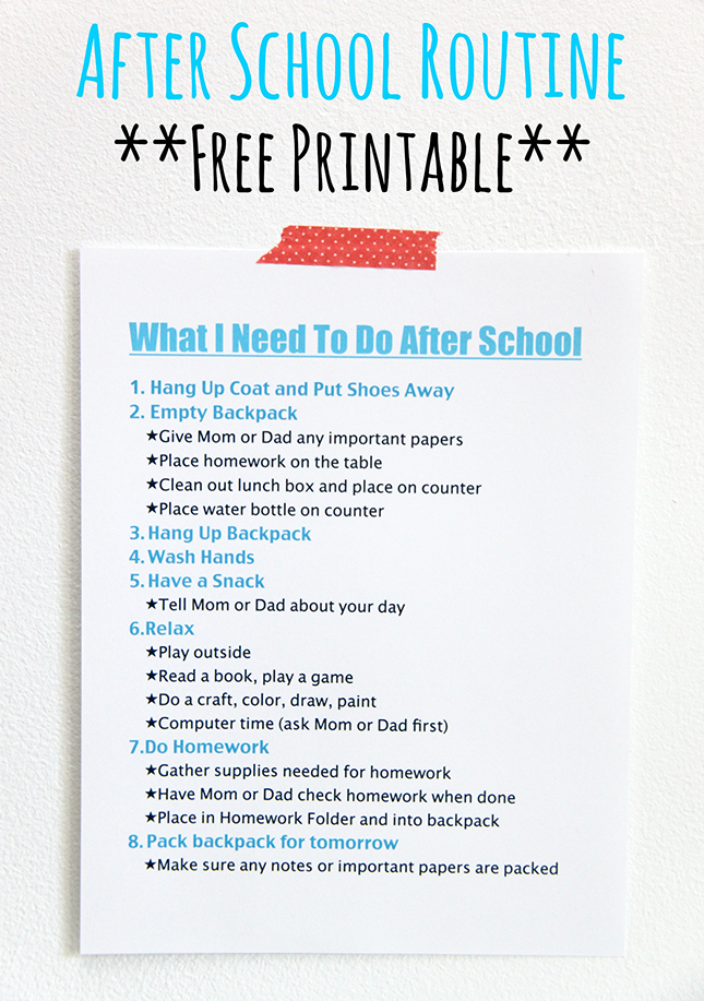 picture regarding After School Schedule Printable named Immediately after University Timetable-Free of charge Printable - Smashed Peas Carrots