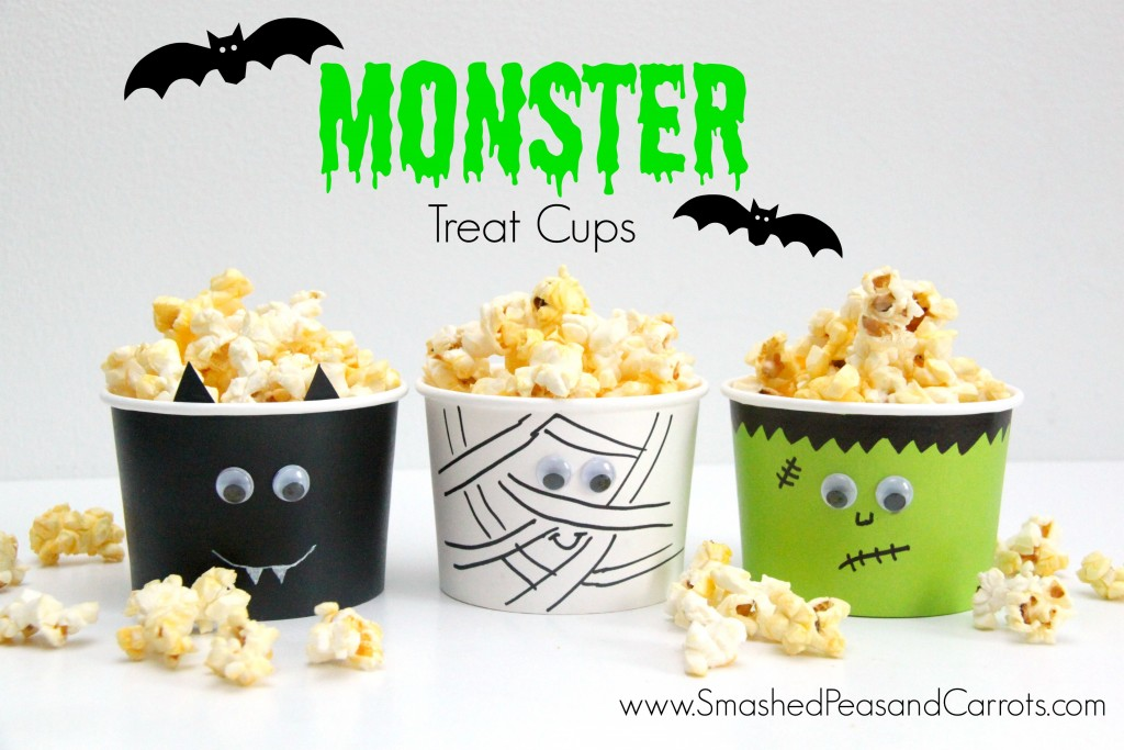 DIY Monster Treat Cups - Smashed Peas & Carrots