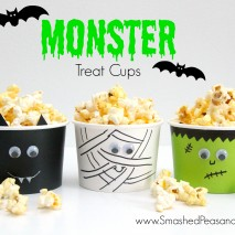 DIY Monster Treat Cups