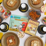 Charlie Brown Thanksgiving Book Read Aloud and Movie Party from SmashedPeasandCarrots.com