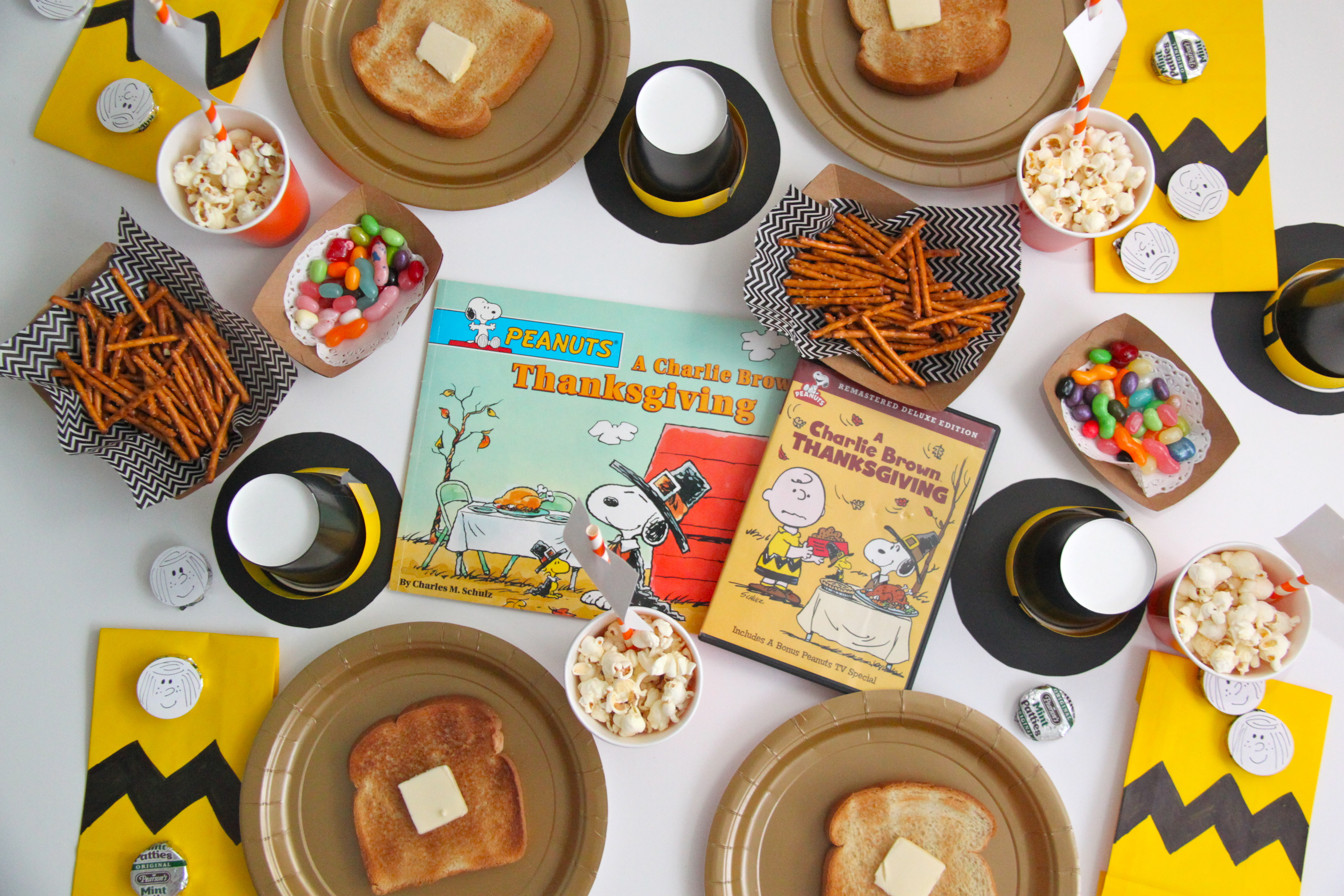 charlie brown thanksgiving read aloud and movie party smashed