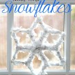 How to make Tissue Paper Snowflakes. A great fine motor craft for kids!