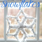 How to Make: Tissue Paper Snowflakes