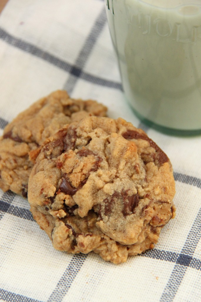 Double Peanut Butter Chocolate Chunk Cookie Recipe - Smashed Peas ...