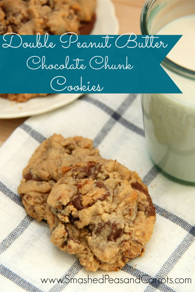 Double Peanut Butter Chocolate Chunk Cookie Recipe - Smashed Peas & Carrots